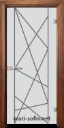 Стъклена интериорна врата Gravur G 13-5