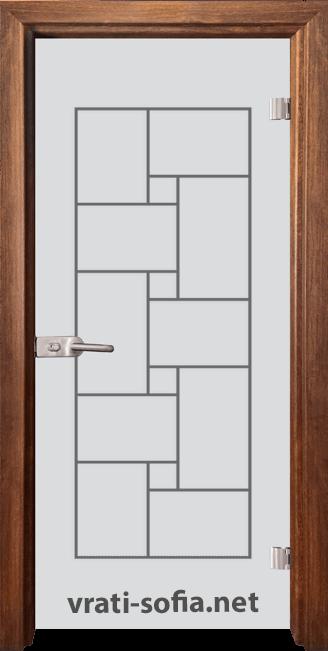Стъклена интериорна врата Gravur G 13-7