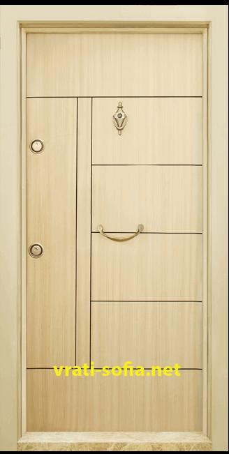 Блиндирана входна врата T-587, цвят Зебра