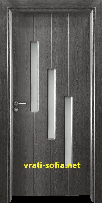 териорна врата Gama 206, цвят Сив кестен