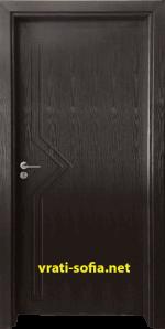 Интериорна врата Gama 201p, цвят Венге