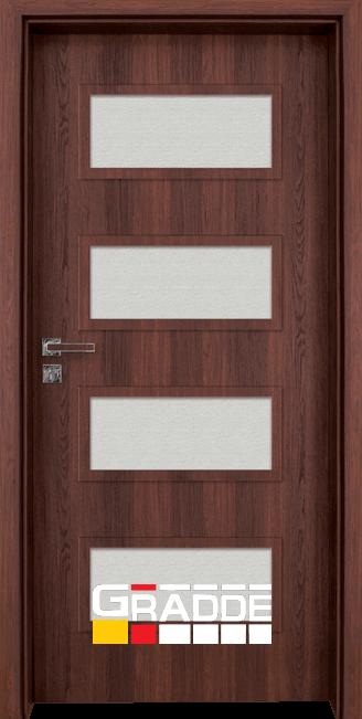 Интериорна врата Gradde Blomendal, цвят Орех Рибейра