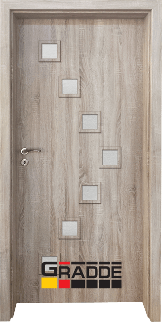 Интериорна врата Gradde Zwinger, цвят Дъб Вераде