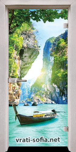 Стъклена интериорна врата Print G 13-15 D