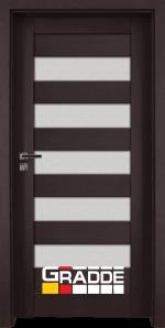 Интериорна врата Gradde Aaven Glas, цвят Орех Рибейра