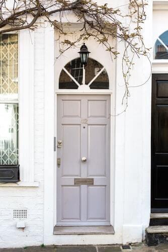 White Front Door House